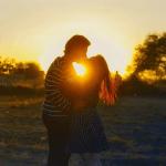Romantischer Kuss