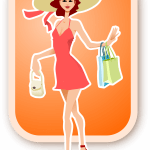 Schöne Frau beim Einkaufen